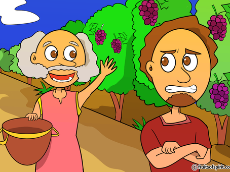 Parable of the Two Sons Coloring Page (Matthew 21:28-32)