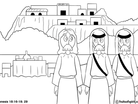 Sodom and Gomorrah Coloring Pages