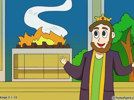 Solomon Asks For Wisdom Coloring Pages