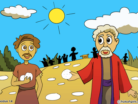 Bible Coloring Pages Manna From Heaven (Exodus 16)