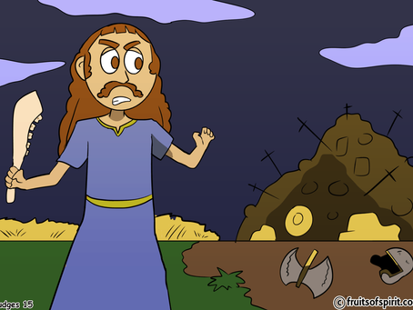 Samson And The Jawbone Coloring Page