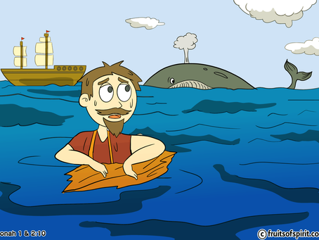 Jonah In The Whale Coloring Page