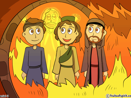 Shadrach, Meshach and Abednego Coloring Page