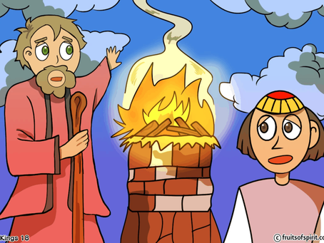 Elijah and The Prophets of Baal Coloring Pages (1 Kings 18)