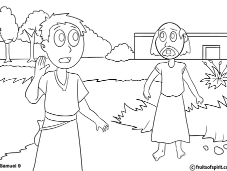 Saul Anointed King Coloring Pages