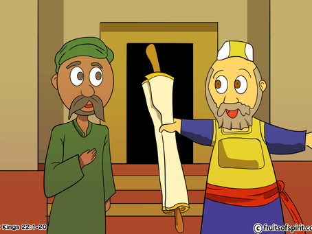 The Book of Law found Coloring Page (2 Kings 22)