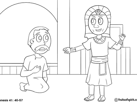 Joseph Rules In Egypt Coloring Pages
