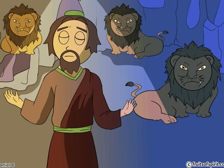 Daniel and The Lion's Den Coloring Pages (Daniel 6)