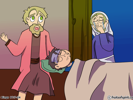 Elijah and The Widow of Zarephath Coloring Page