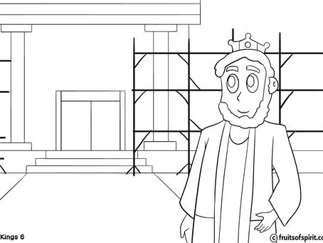 Solomon's Temple Coloring Pages
