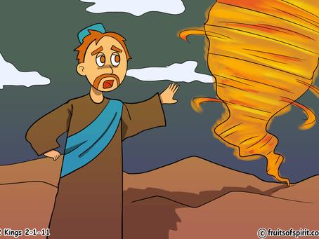 Elijah Taken To Heaven Coloring Page
