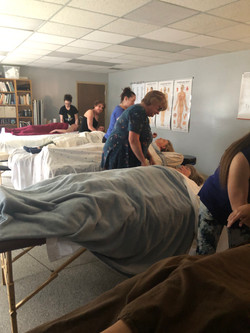 Jessica Crow leading Massage professional continuing education