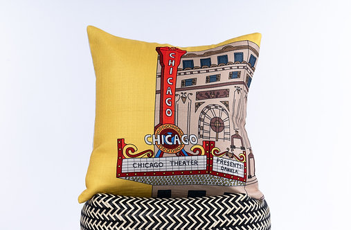 Chicago Theatre Pillow Cover