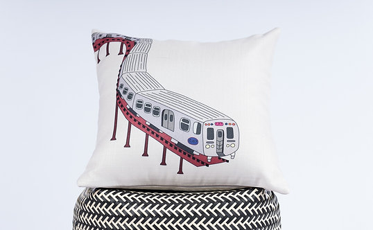 Banano Chicago Train Pillow Cover