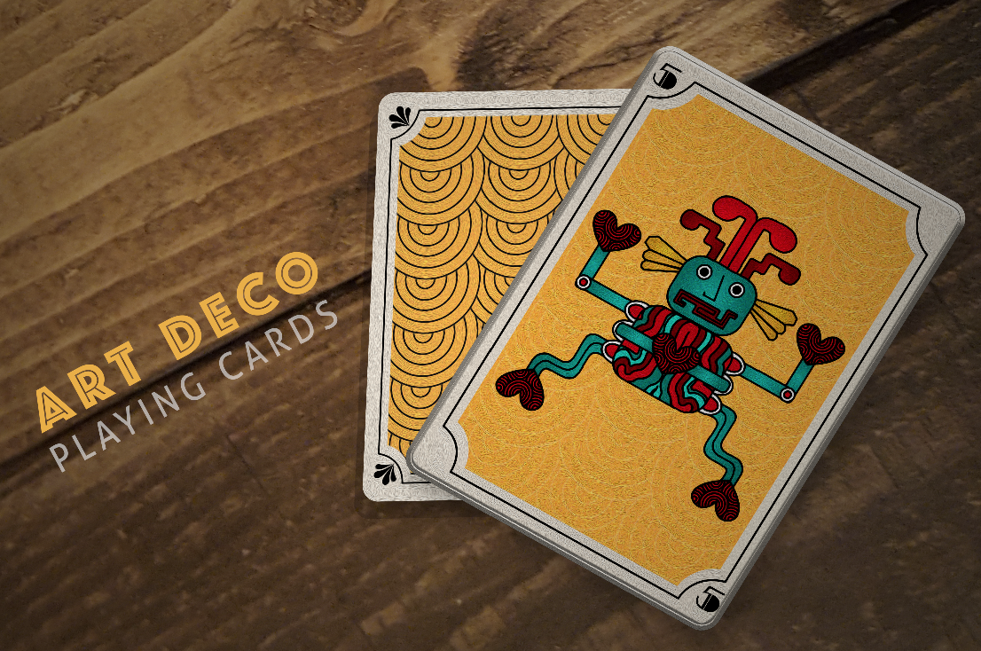 Illustration - Art Deco Playing Card