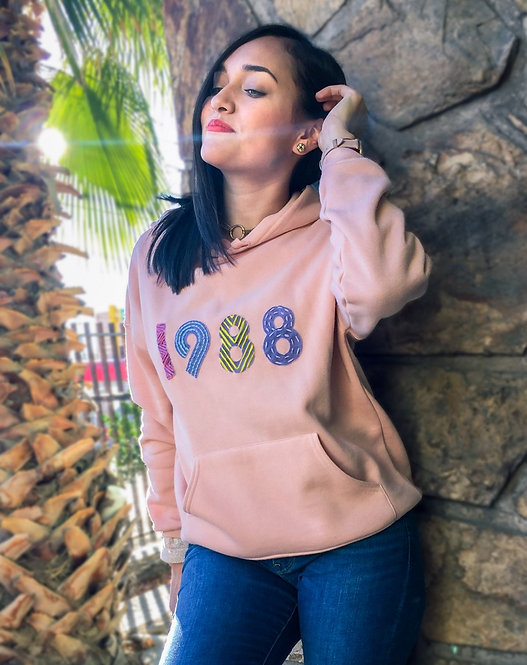1988 Hand Embroidered Sweatshirt