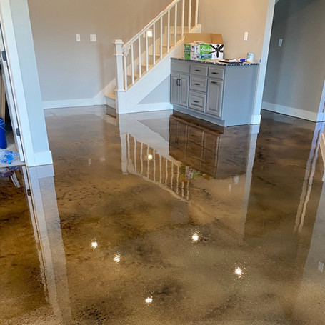 Residential Brown Stain