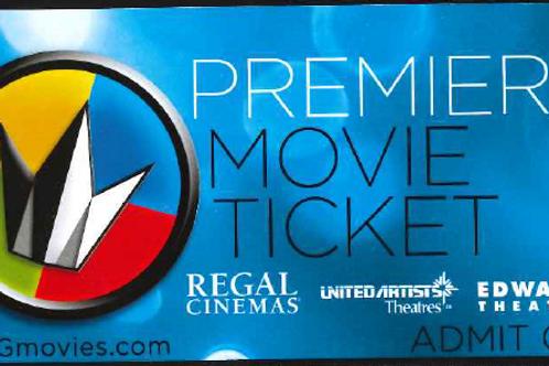 Regal Premier Movie ticket