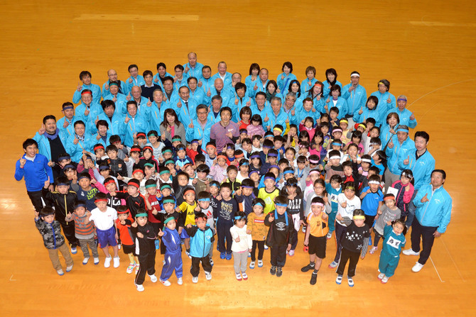 朝原宣治の『かけっこ教室』が開催されました