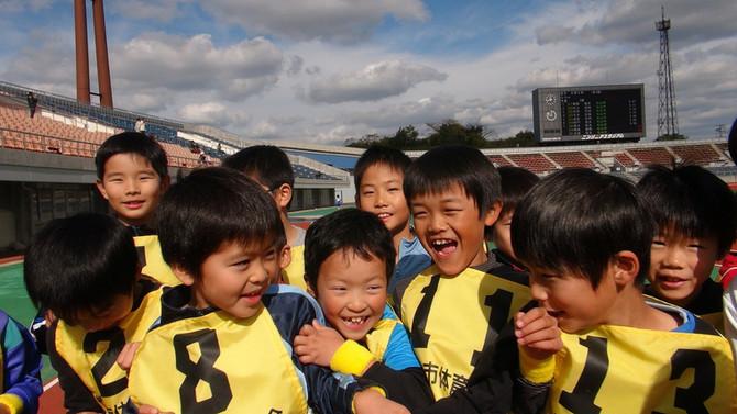 かけっこ教室で頑張った笑顔の子どもたち