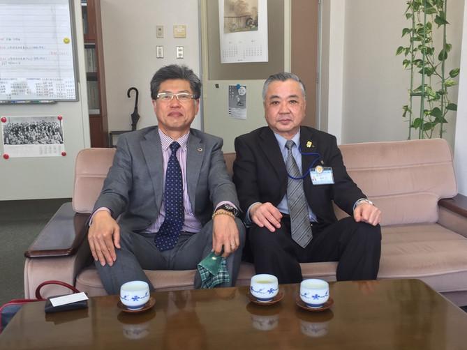 松山市教育長を表敬訪問しました