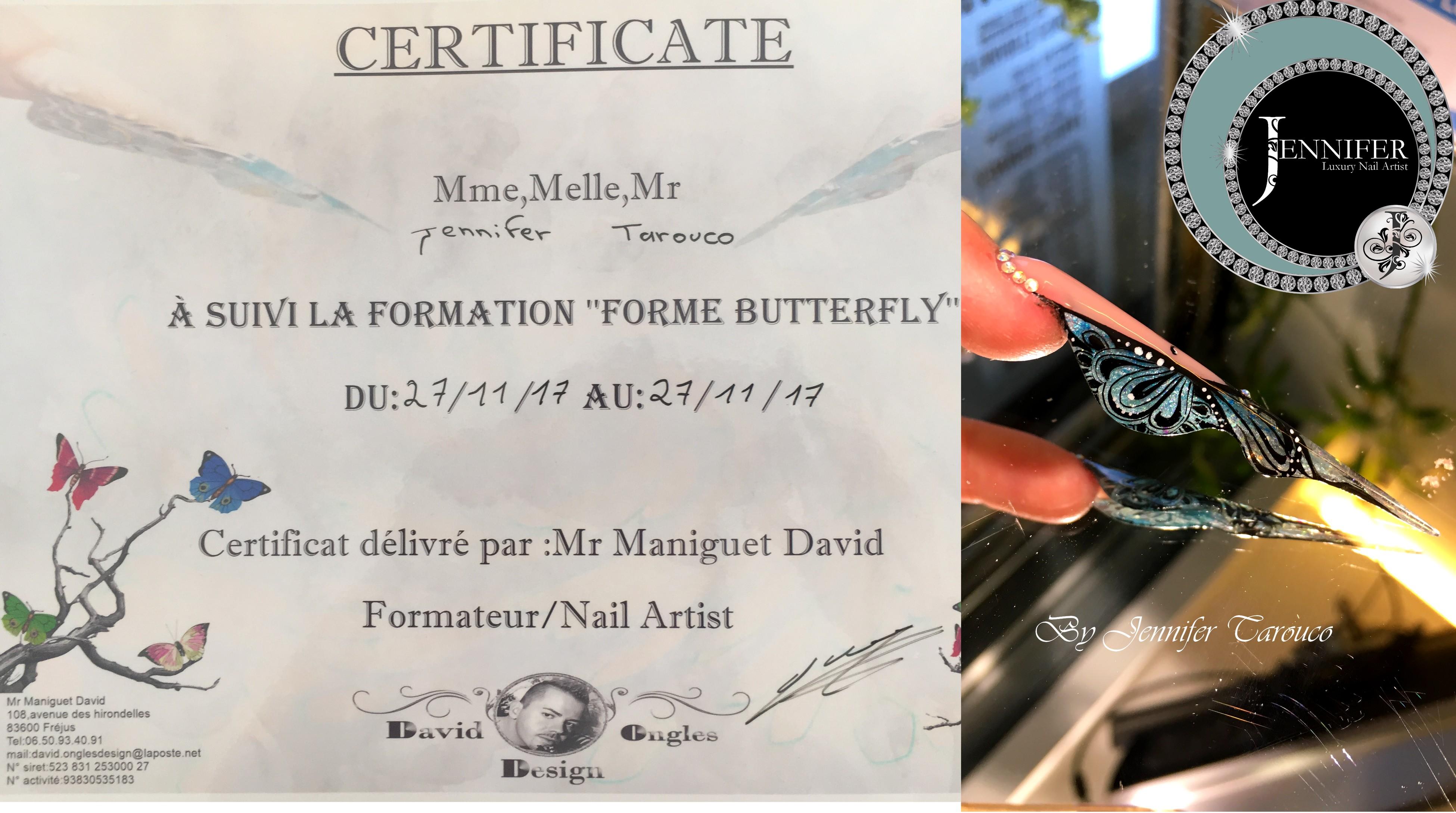 Certificat forme butterfly
