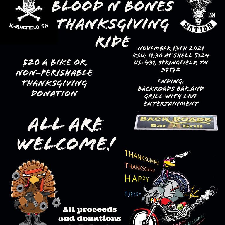Blood n Bones Thanksgiving Ride