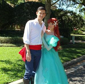 Mermaid Prince & Princess (Teal Dress)