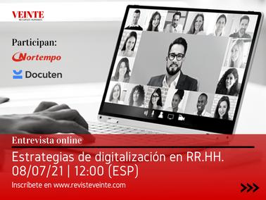 Estrategias de digitalización en RR.HH. [Entrevista online en directo]