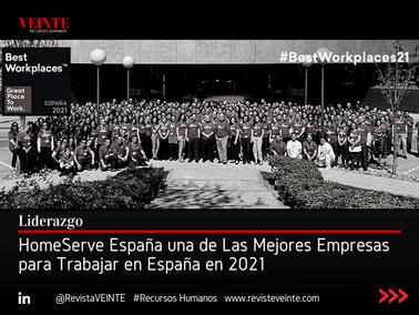 HomeServe España una de Las Mejores Empresas para Trabajar en España en 2021