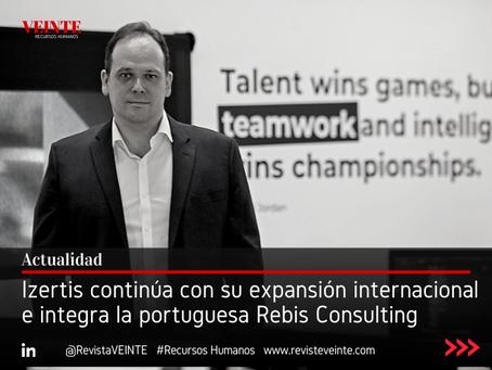 Izertis continúa con su expansión internacional e integra la portuguesa Rebis Consulting