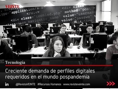 Creciente demanda de perfiles digitales requeridos en el mundo pospandemia