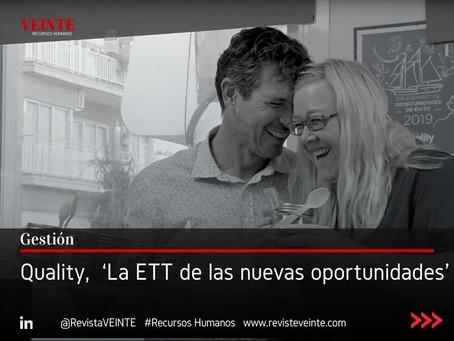 Quality,  'La ETT de las nuevas oportunidades'
