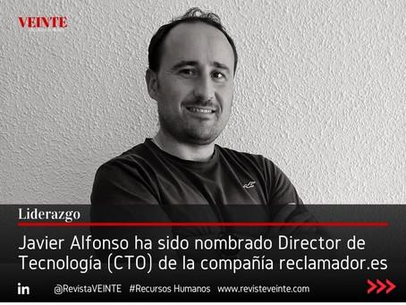 Javier Alfonso ha sido nombrado Director de Tecnología (CTO) de la compañía reclamador.es