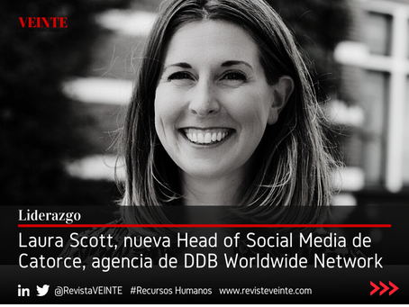 Laura Scott, nueva Head of Social Media de Catorce, agencia de DDB Worldwide Network
