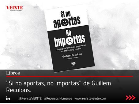 """Si no aportas, no importas"" de Guillem Recolons."