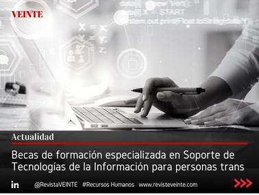 Becas de formación especializada en Soporte de Tecnologías de la Información para personas trans