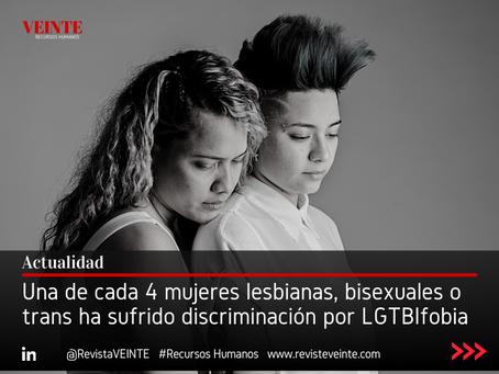 Una de cada 4 mujeres lesbianas, bisexuales o trans ha sufrido discriminación por LGTBIfobia