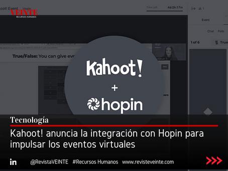 Kahoot! anuncia la integración con Hopin para impulsar los eventos virtuales