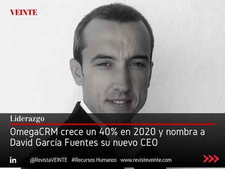 OmegaCRM crece un 40% en 2020 y nombra a David García Fuentes su nuevo CEO