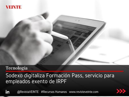 Sodexo digitaliza Formación Pass, servicio para empleados exento de IRPF