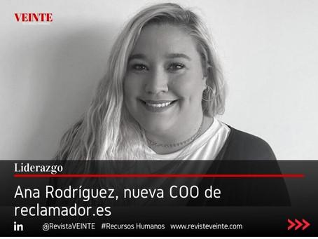 Ana Rodríguez, nueva COO de reclamador.es