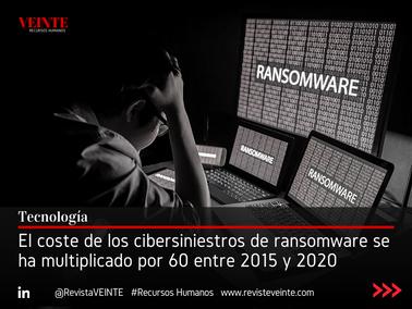 El coste de los cibersiniestros de ransomware se ha multiplicado por 60 entre 2015 y 2020