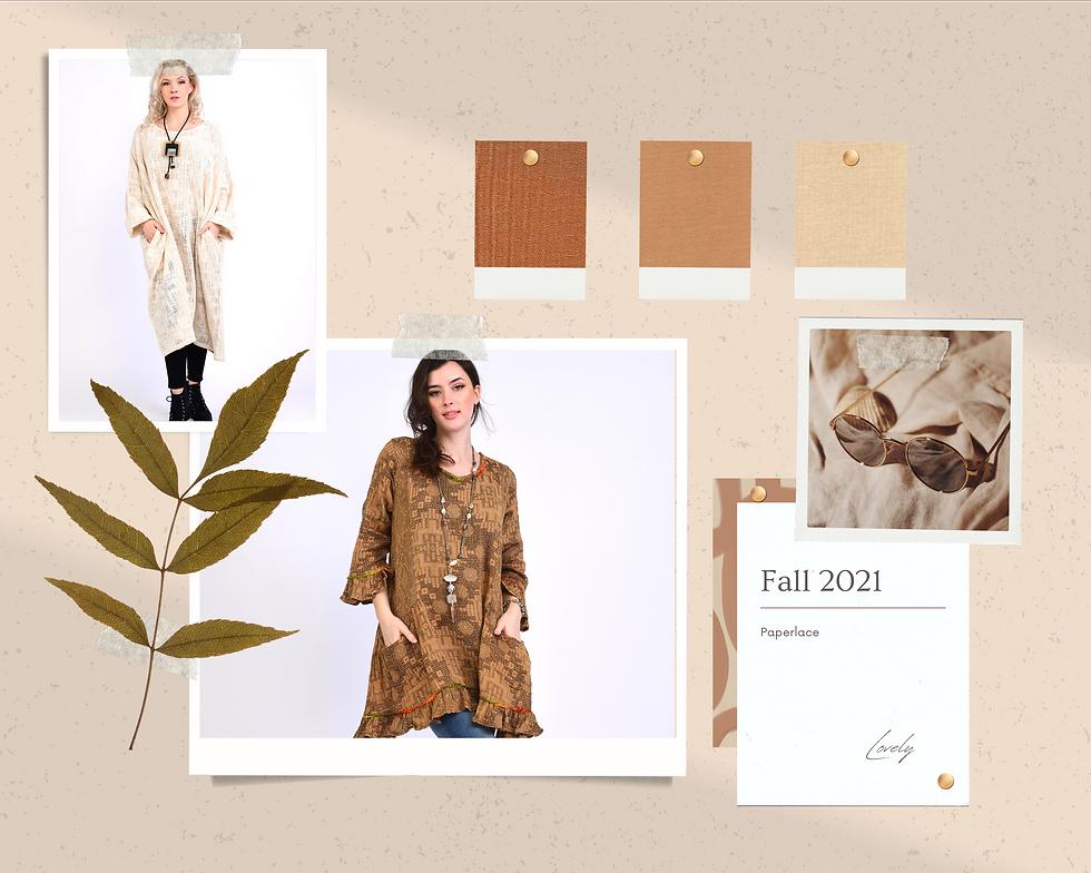 Brown Realistic Fashion Moodboard Photo