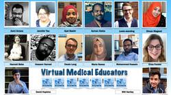 Virtual Medical Educators Team Azmi Amara, Jennifer You, Ayat Bashir, Ayman, Lewis Standing, Eiman M