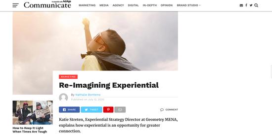 Reimagining experiences