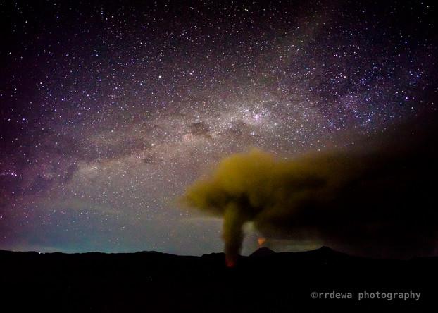 Milky way over Mt. Bromo