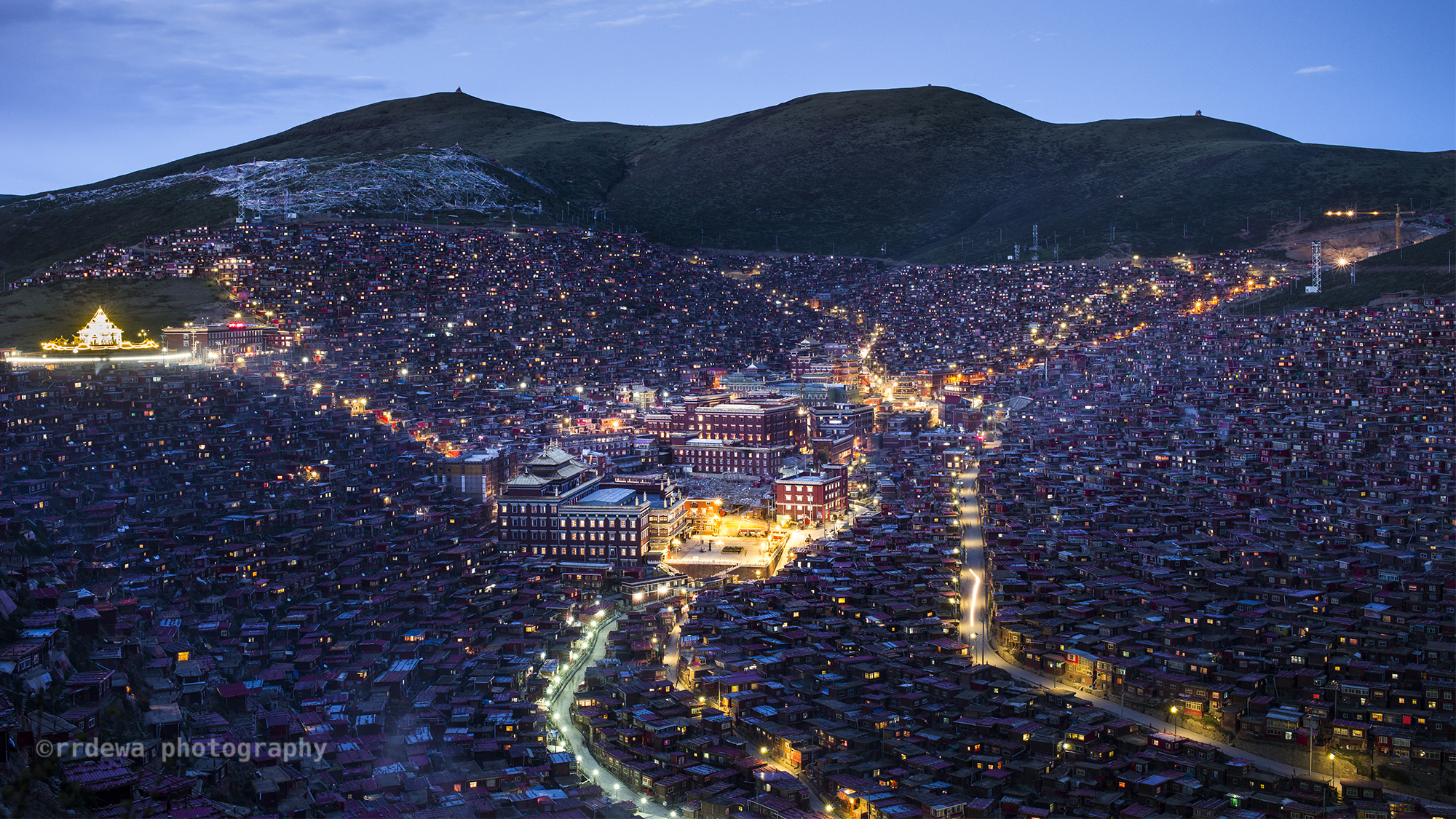 Dawn at Larung Gar