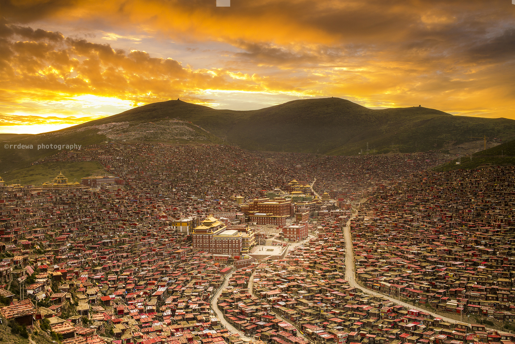 Sunrise at Larung Gar