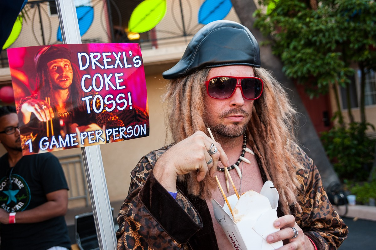 Drexl's coke toss